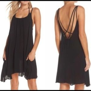 Elan | Swimsuit Coverup Black Slipdress | S